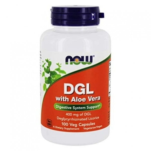 DGL WITH ALOE VERA 100 KAPSUŁEK NOW FOODS