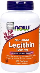 LECITHIN NON GMO LECYTYNA 1200MG 100 TABLETEK NOW FOODS