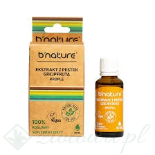 EKSTRAKT Z PESTEK GREJPFRUTA 30ML KROPLE B'NATURE