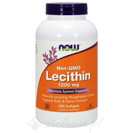 Lecithin NON GMO 1200mg NOW 200 tabletek.jpg